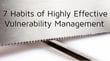 脆弱性管理に多大な効果をもたらす7つの習慣
