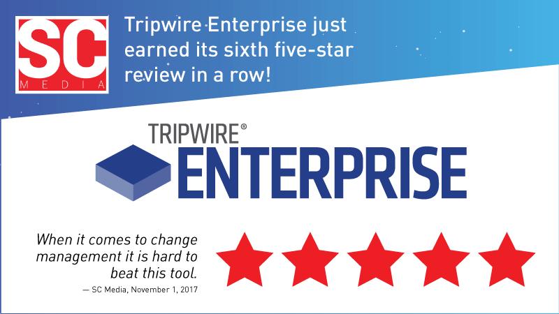 Tripwire EnterpriseがSC Magazineの5つ星評価を6年連続で獲得!!